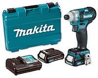 Аккумуляторный ударный шуруповерт Makita TD111DWAE + 2 акб 10.8 V 2 Ah + з/у + кейс