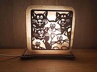 """Соляная лампа """"Коты"""", фото 1"""
