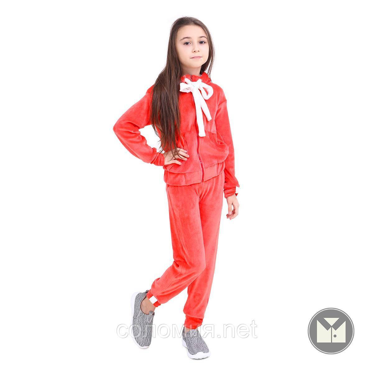 Яркий Велюровый Спортивный костюм  для девочки 110-140р