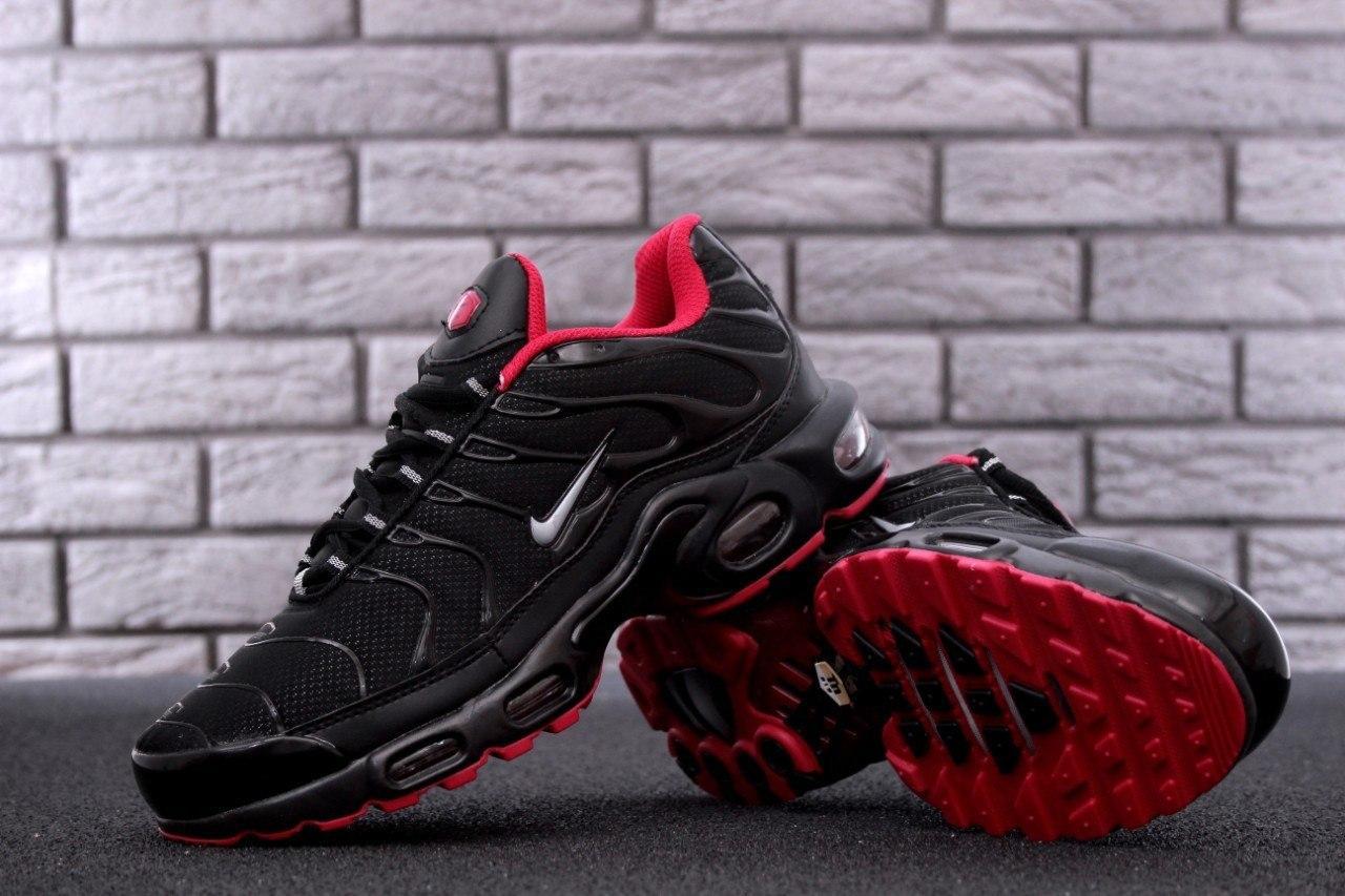 Мужские кроссовки в стиле Nike Air Max Tn Black (Реплика ААА+)