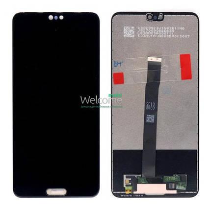 Модуль Huawei P20 black дисплей экран, сенсор тач скрин Хуавей Хуавэй Р20, фото 2