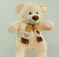 На подарок мягкая игрушка плюшевый Мишка 41 см в шарфе очаровательный подарок взрослым и детям