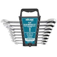 Набор комбинированных  ключей MOLDER трещоткой (8 шт)