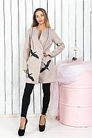 "Пальто женское кашемировое ""Fly"" норма, батал.Цвет: беж, мокко, марсала, бутылка, фото 1"