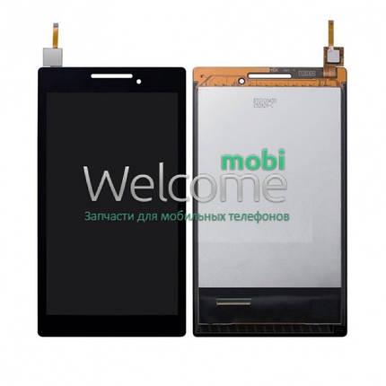 Модуль Lenovo IdeaTab 2 A7-10F black дисплей экран, сенсор тач скрин для планшета, фото 2