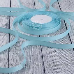 Лента репсовая шириной 12 мм голубого цвета, бобина 23 м