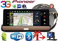 GPS навигатор видеорегистратор DVR Pioneer T7, Sim, Android, 3G, WIFI+ камера заднего вида в подарок