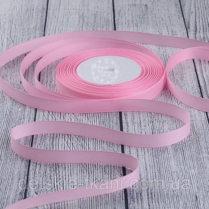 Лента репсовая шириной 12 мм тёмно-розового цвета, бобина 23 м