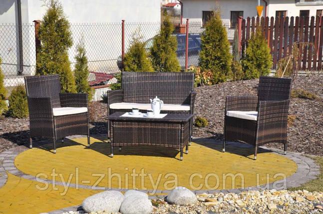 Садовий диванчик з кріслами і столиком, фото 2