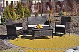 Садовий диванчик з кріслами і столиком, фото 3