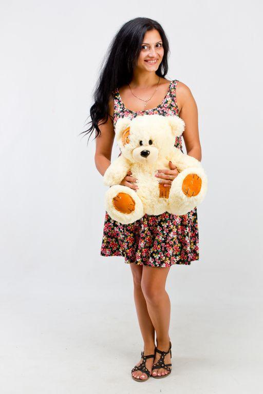 Плюшевый медведь Гриша  кремовый (50 см)