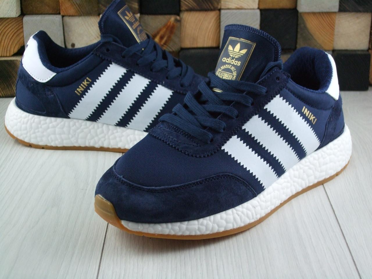Кроссовки мужские Adidas Iniki blue Адидас (Реплика ААА+) - Pear Group  Store в 9c1a86975e264