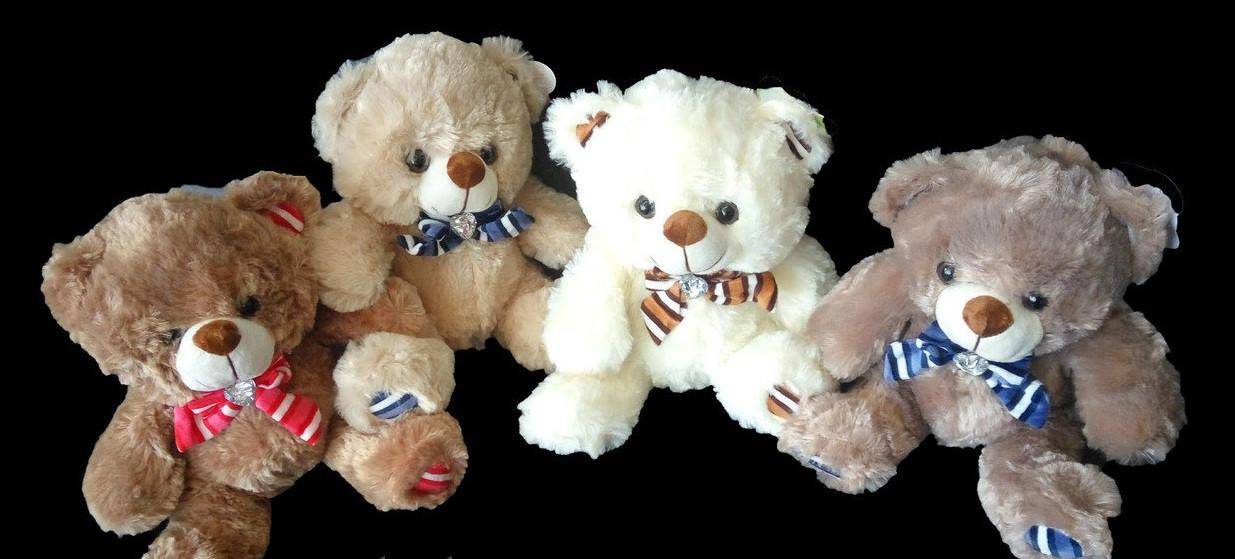 Детская мягкая игрушка Мишка 30 см хороший подарок на любой праздник плюшевый медведь