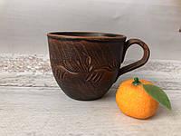 Кофейная чашка из красной глины 180 мл, фото 1