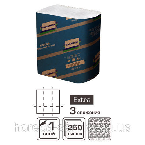 Салфетки для диспенсера  однослойные Marathon Extra 250 шт.