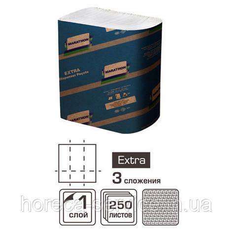Диспенсерные салфетки 1-слойные Marathon Extra 250 шт. (18 уп/ящ) , фото 2