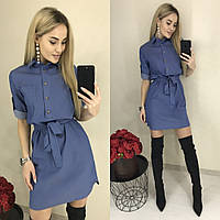 Платье / джинс / Украина 26-0142, фото 1
