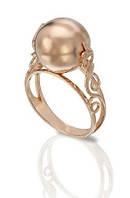 Кольцо золотое женское в виде шара.