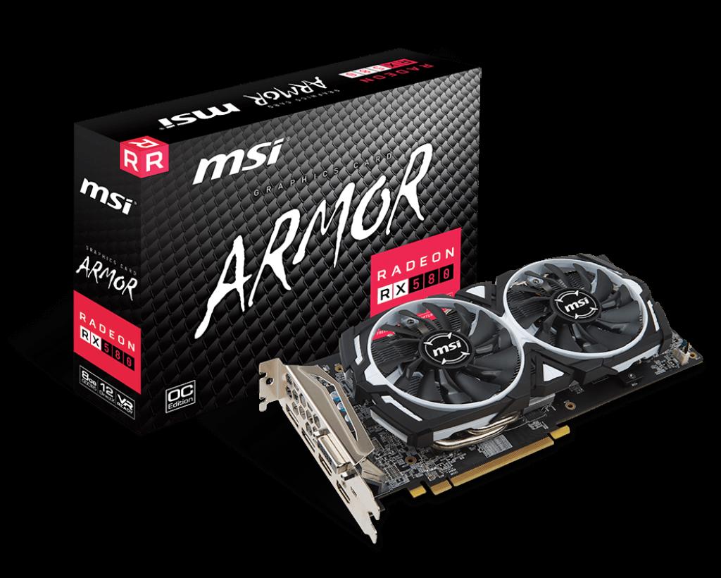 Видеокарта MSI Radeon RX 580 ARMOR 8G OC (RX 580 ARMOR 8G OC)