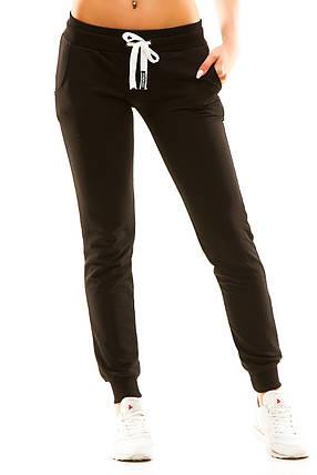 Женские спортивные штаны 5406 черные, фото 2