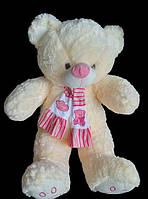 Мишка 41 см с милым розовым шарфом плюшевая игрушка подарок на День Святого Валентина 8 марта День Рождения