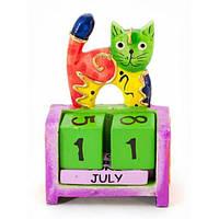 """Календарь настольный """"Кошка"""" дерево (10х7х4 см) , Статуэтки и фигурки"""