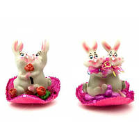 Кролики пара на сердце (4 шт/уп)(7х8х6,5 см) , Распродажа