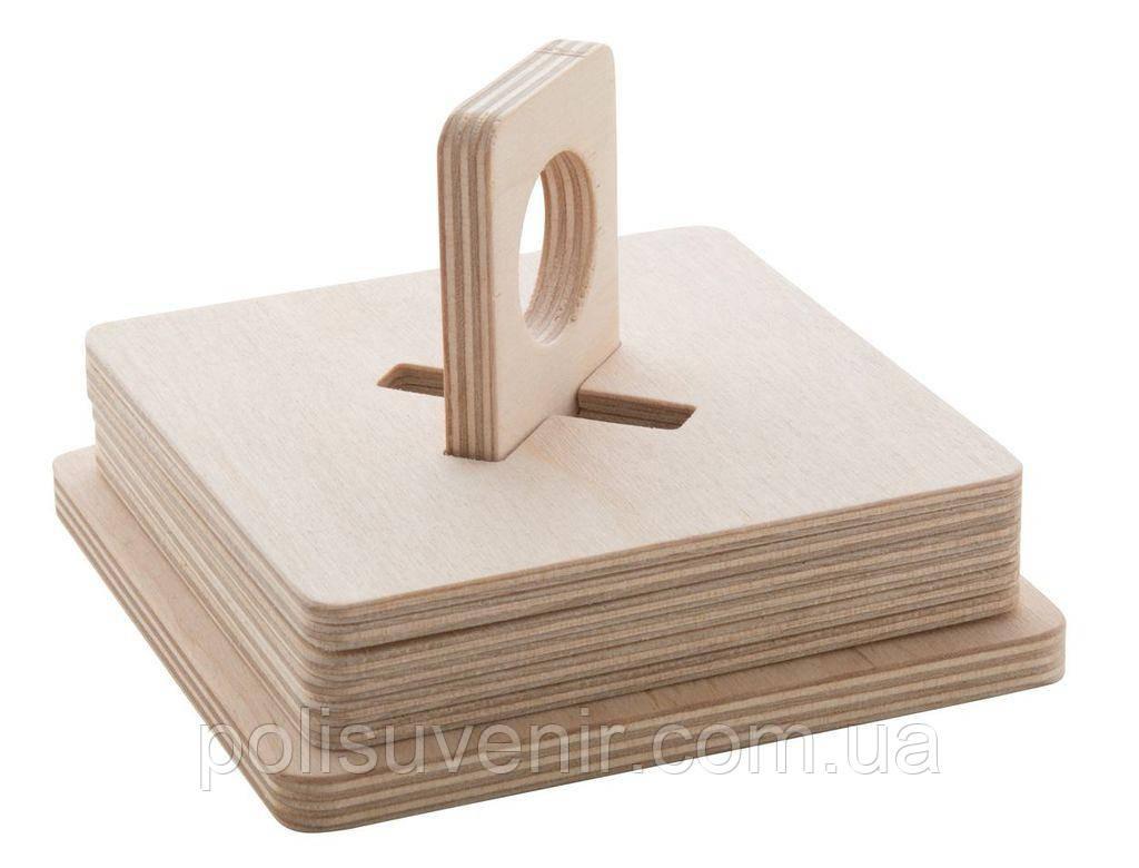 Набір з 6-ти дерев'яних костерів для чашок