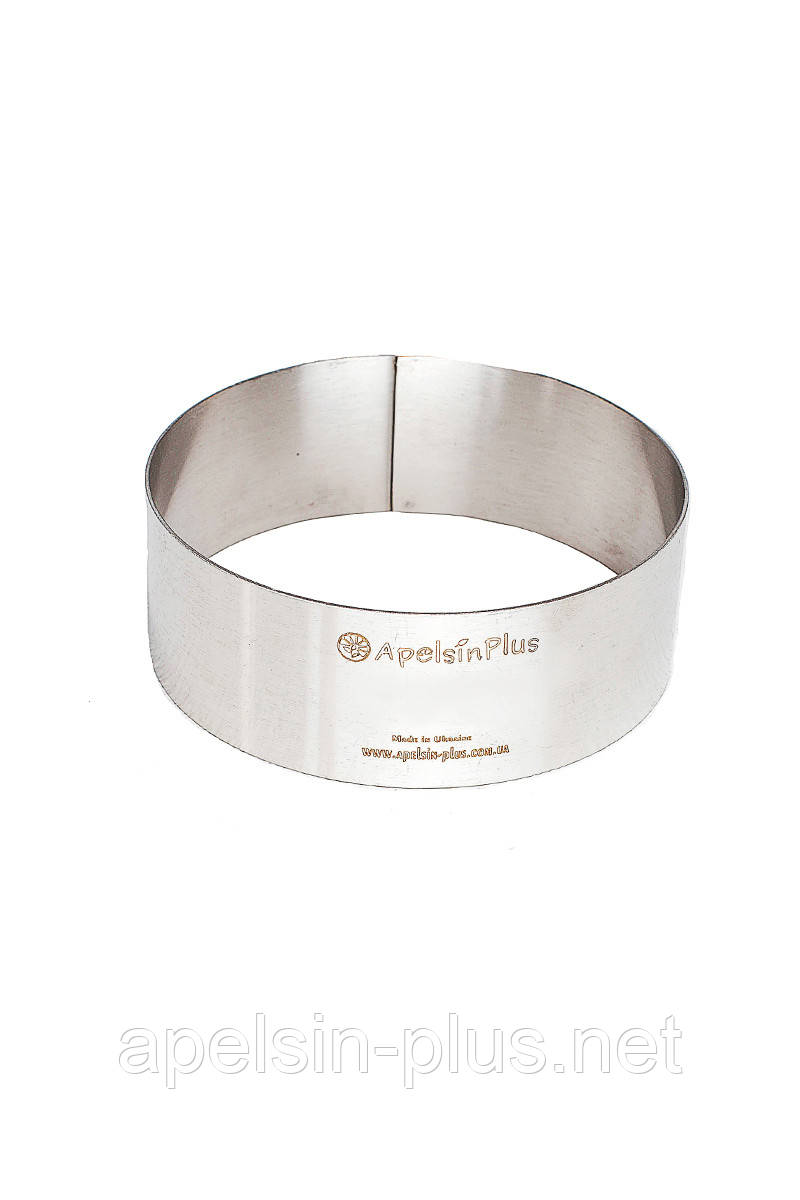 Кондитерское кольцо диаметр 18 см высота 6 см нержавеющая сталь