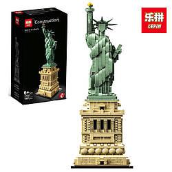 "Конструктор Lepin 17011 ""Статуя Свободи"" 1887 деталей (Аналог Lego Architecture 21042)"