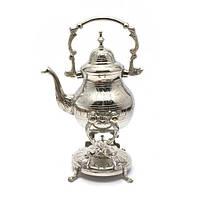 """Чайник бронзовый с горелкой на подставке""""Хром"""" (30,5х19х16 см) , Посуда"""