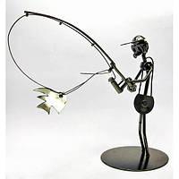 """Техно-арт """"Спиннингист"""" металл (19х21х10 см) , Статуэтки и фигурки"""