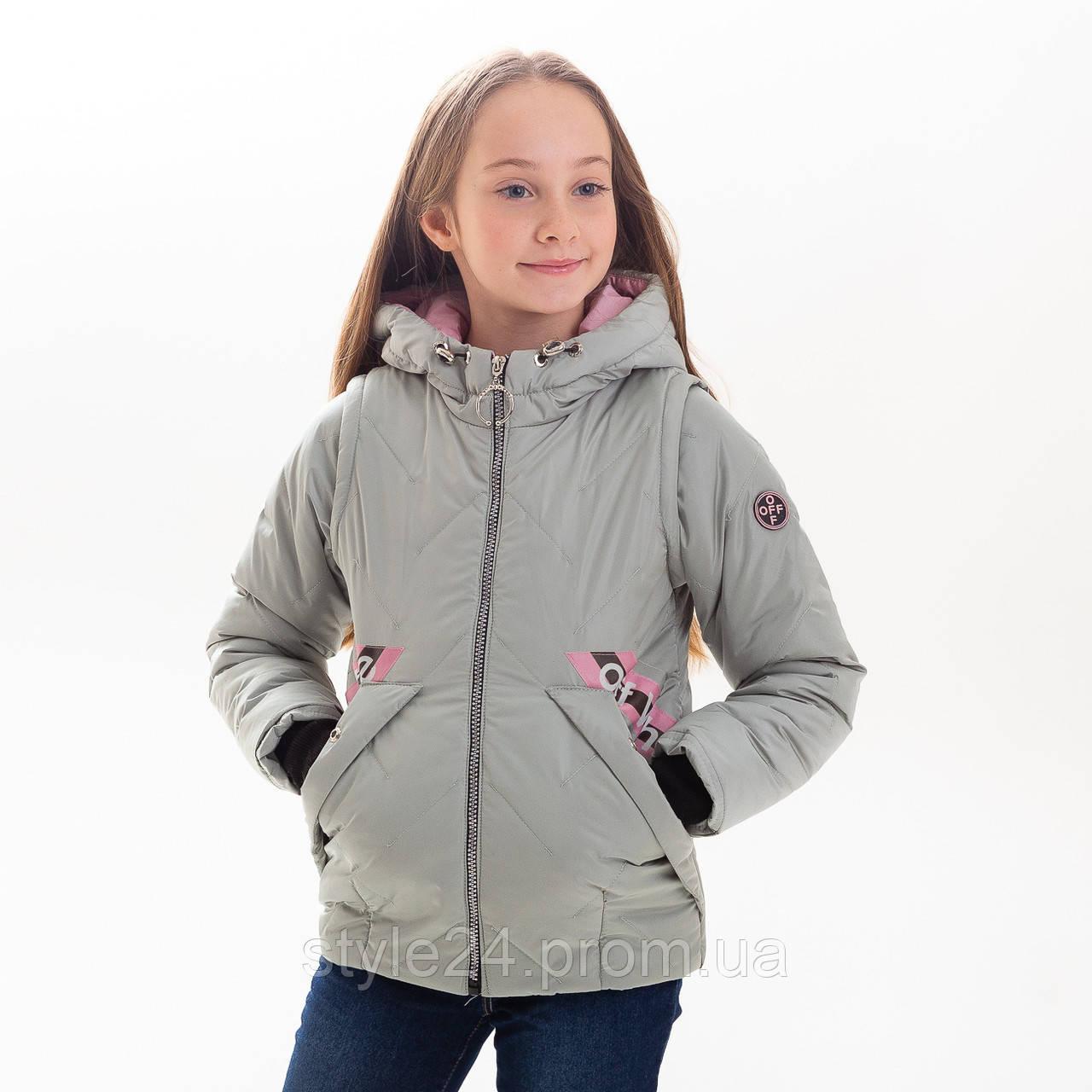 Весняна куртка-жилетка на дівчинку  98bf30ce275eb