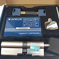 Цилиндровый механизм с гибридными ключами Apecs XR 90 мм (40*50) с поворотной ручкой, фото 1