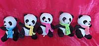 Маленькая плюшевая Панда 18 см в шарфе мягкая игрушка
