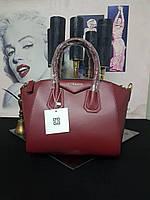 02f5cfbba12f Брендовая кожаная женская сумка Givenchy (luxury quality) сумка Живанши  бордо марсал