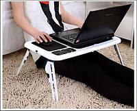 Столик-подставка многофункциональная e-table, складная, 2 вентилятора, высота и угол наклона регулируются