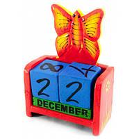 """Календарь настольный """"Бабочка"""" дерево (15х10х5 см) , Статуэтки и фигурки"""