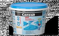 Эластичный водостойкий цветной шов Ceresit CE 40 aquastatic 5кг (ширина шва до 5мм), цвет затирки - карамель