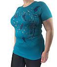 Женская футболка большого размера, пр-во Турция, фото 3