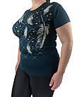 Женская футболка большого размера, пр-во Турция, фото 2