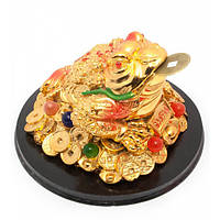 """Жаба на монетах с камнями """"золото"""" (13,5х13,5х8,5 см) , Статуэтки и фигурки"""