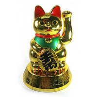 Кошка Манэки-нэко машущая лапой (батарейки в комплект не входят)(16,5х11,5х11,5 см) , Статуэтки и фигурки
