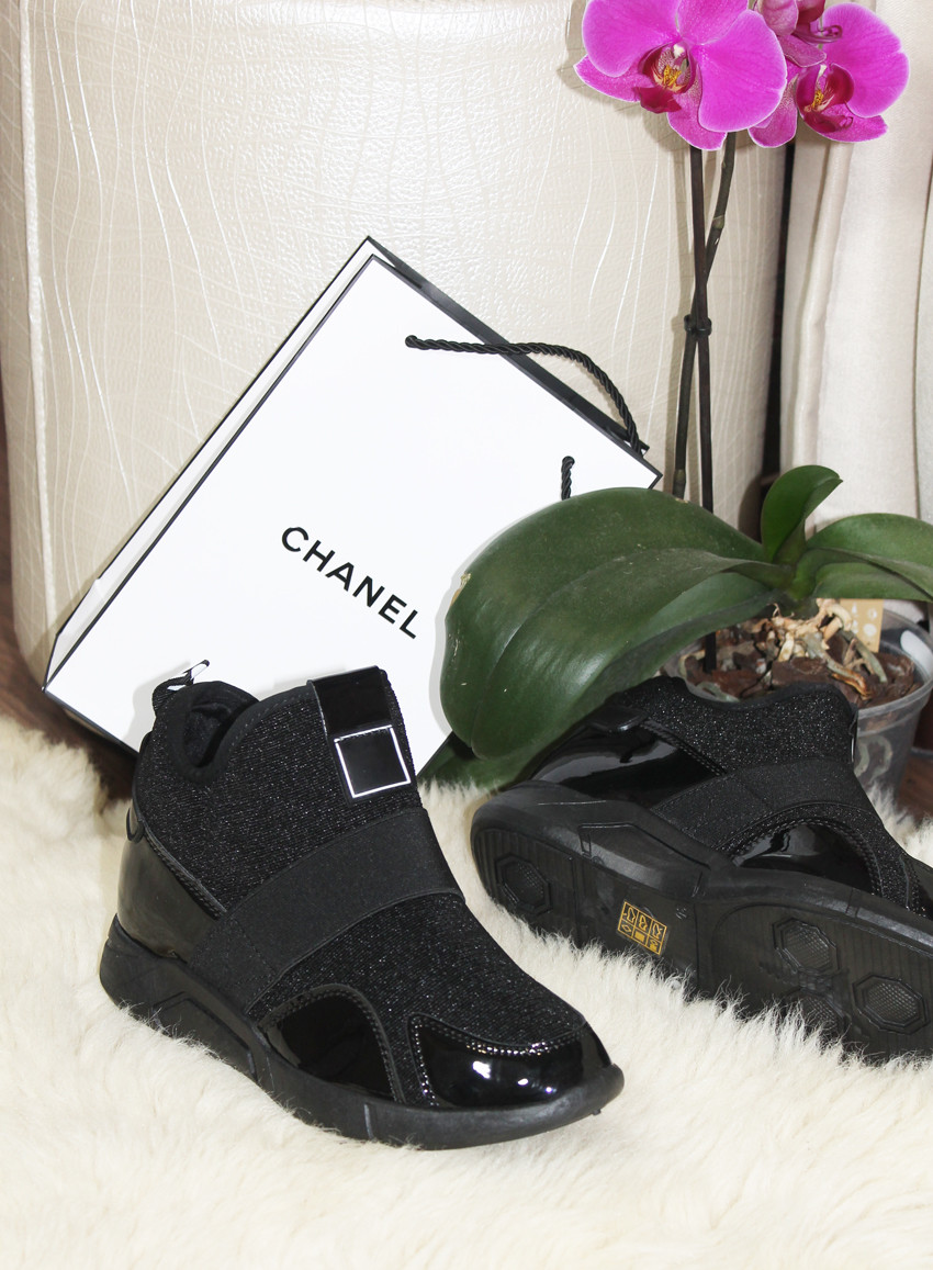 Кроссовки сникерсы черные