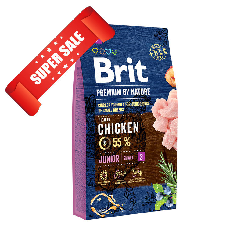 Сухой корм для собак Brit Premium Junior S Chicken 1 кг