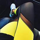 Лосины для фитнеса леггинсы для спорта с сеткой  черные желтые №31 — спортивные, фото 2