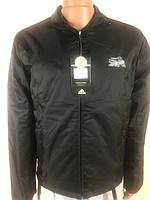 Мужская ветровка(m.l.xl) на тонком синтепоне  adidas р-р 46-52,черная.Предоплата