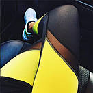 Лосины для фитнеса леггинсы для спорта с сеткой черные синие №30 (S,M) — спортивные, фото 6
