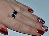 Серебряное обручальное кольцо с вставками из золота, фото 10