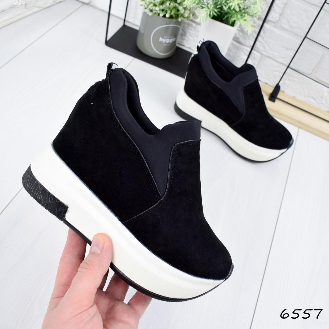 2099cb7d Купить Кроссовок женский на платформе Bebe чёрный женскую обувь ...